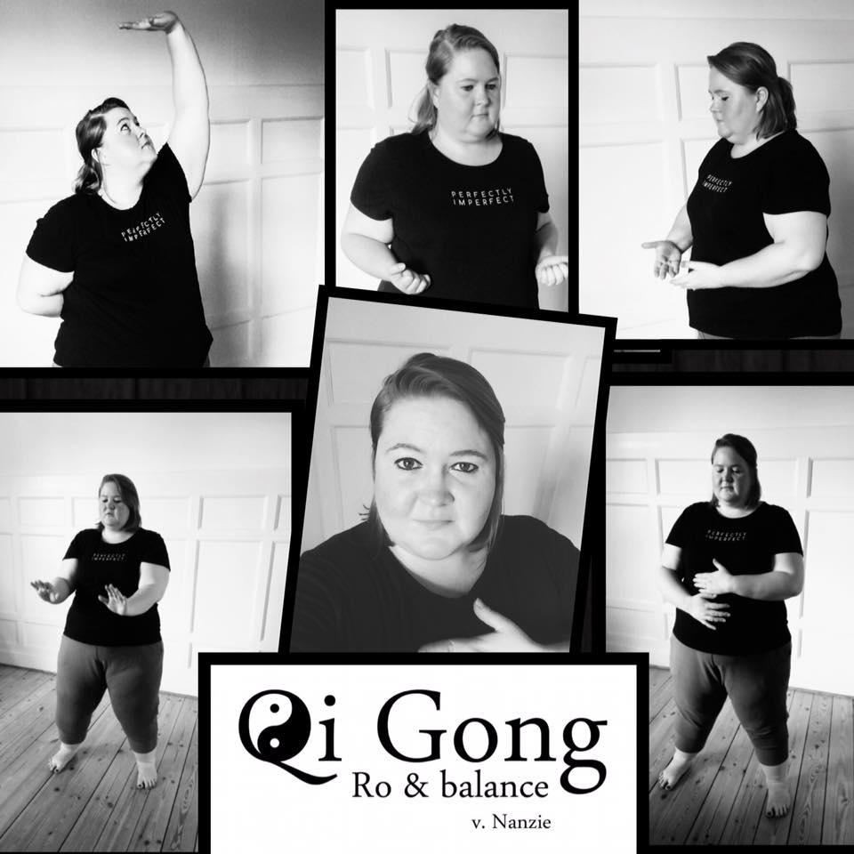 Hvad er Qigong  Foto af plus size kvinde der udfører Qigong